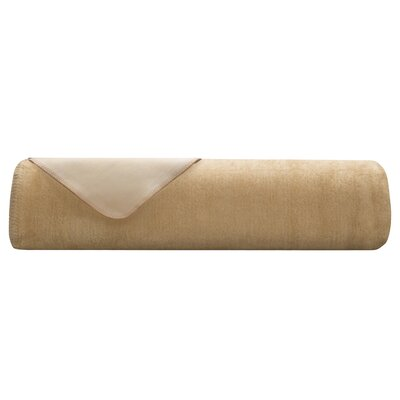 Downtown Blanket Color: Camel/Ivory, Size: Twin