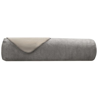 Downtown Blanket Size: Twin, Color: Grey/ Ivory