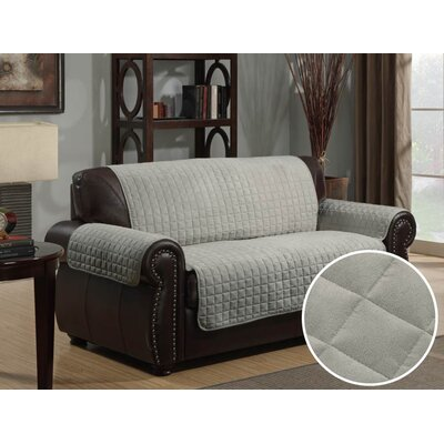 Super Soft Micro-Suede Loveseat Slipcover Upholstery: Gray