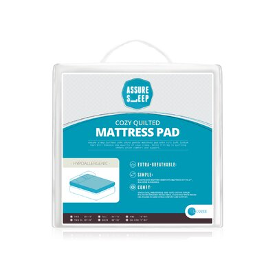 Assure Sleep Quilted Mattress Pad Size: King