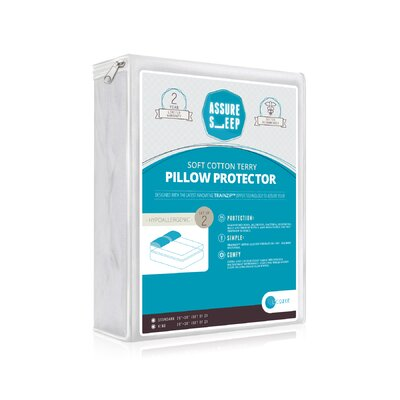 Assure Sleep Cotton Waterproof Pillow Protector Size: King