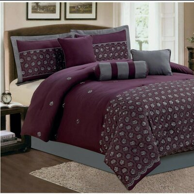 Keira 7 Piece Comforter Set Size: Queen