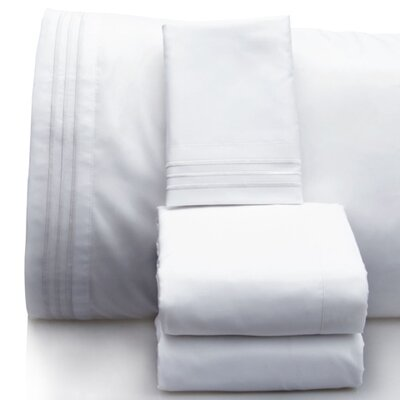 Luxurious 1500 Thread Count Sheet Set Color: White, Size: California King