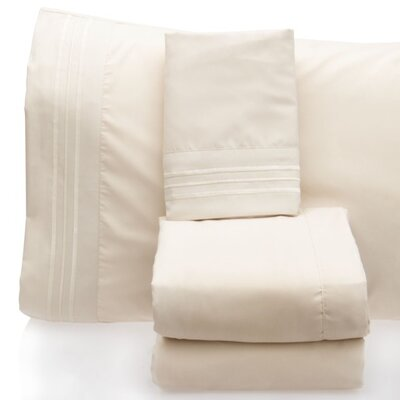 Luxurious 1500 Thread Count Sheet Set Color: Cream, Size: Full