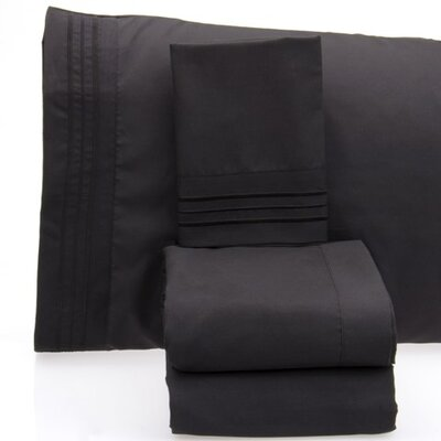 Luxurious 1500 Thread Count Sheet Set Color: Black, Size: King