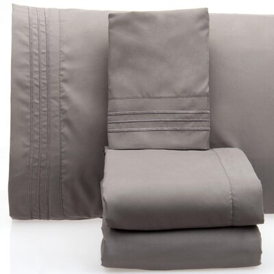 Luxurious 1500 Thread Count Sheet Set Color: Gray, Size: California King