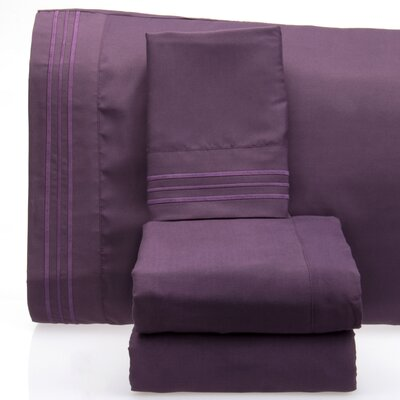 Luxurious 1500 Thread Count Sheet Set Color: Purple, Size: King