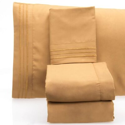 Luxurious 1500 Thread Count Sheet Set Color: Beige, Size: Full