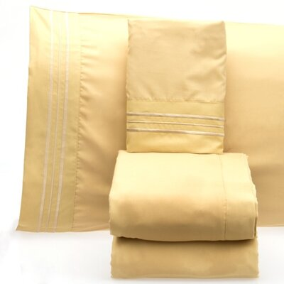 Luxurious 1500 Thread Count Sheet Set Color: Camel, Size: Twin