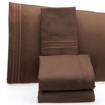 Luxurious 1500 Thread Count Sheet Set Color: Chocolate, Size: King