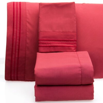 Luxurious 1500 Thread Count Sheet Set Color: Burgundy, Size: Full