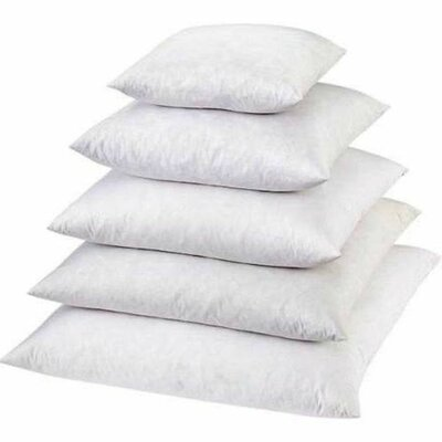 Traditional Cotton Pillow Insert Size: Standard