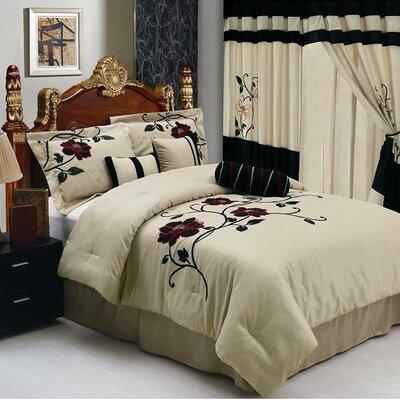 DRose 7 Piece Comforter Set Size: King