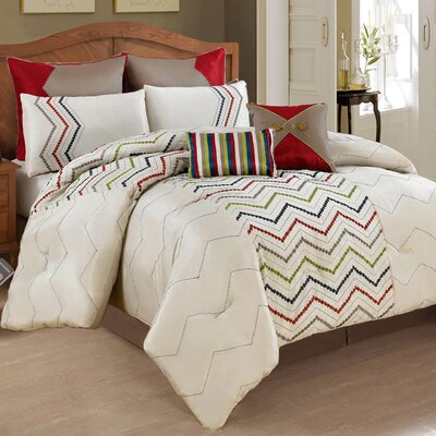 Dot 8 Piece Comforter Set Size: Oversized King