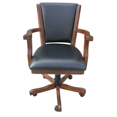 Kingston Poker Arm Chair Finish: Walnut