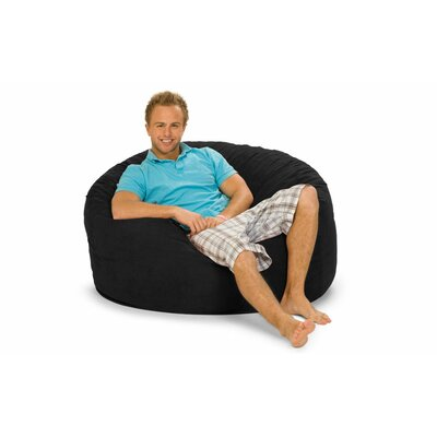 Gianti Bean Bag Lounger Upholstery: Black Microsuede