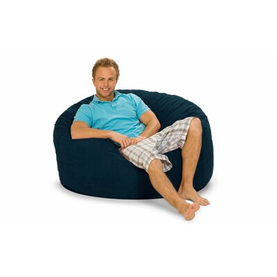 Gianti Bean Bag Lounger Upholstery: Navy Microsuede
