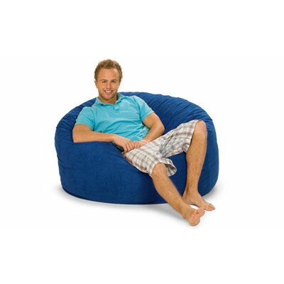 Gianti Bean Bag Lounger Upholstery: Blue Microsuede