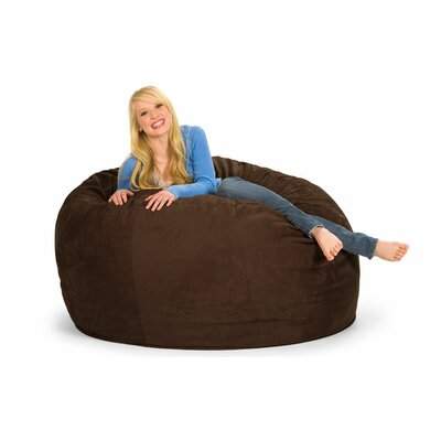 Enormo Bean Bag Sofa Upholstery: Microsuede, Color: Chocolate