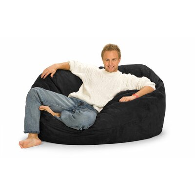 Enormo Bean Bag Sofa Upholstery: Black