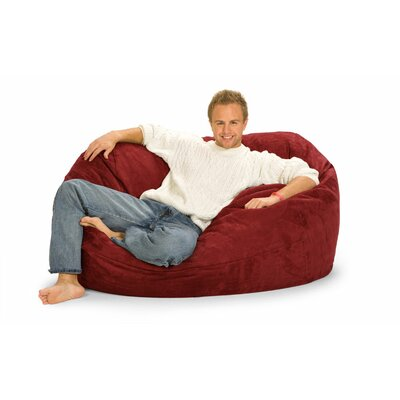 Enormo Bean Bag Sofa Upholstery: Red