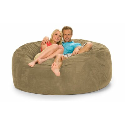 Colossa Bean Bag Sofa Upholstery: Camel Microsuede