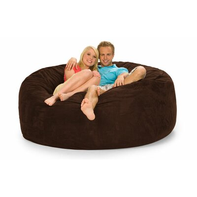 Colossa Bean Bag Sofa Upholstery: Chocolate Microsuede