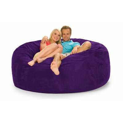 Colossa Bean Bag Sofa Upholstery: Purple Microsuede