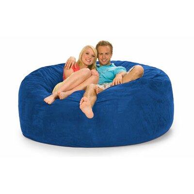 Colossa Bean Bag Sofa Upholstery: Blue Microsuede