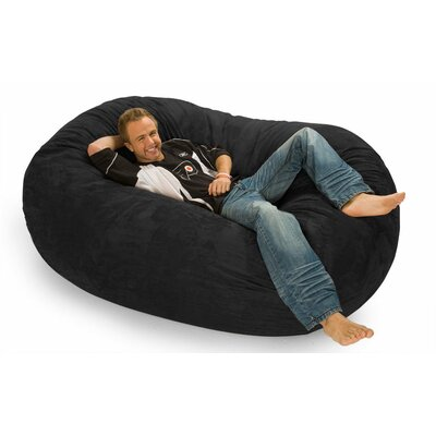 Colossa Bean Bag Sofa Upholstery: Black Microsuede
