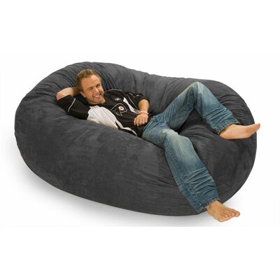 Colossa Bean Bag Sofa Upholstery: Charcoal Microsuede