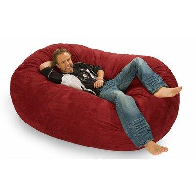 Colossa Bean Bag Sofa Upholstery: Cinnabar Microfiber