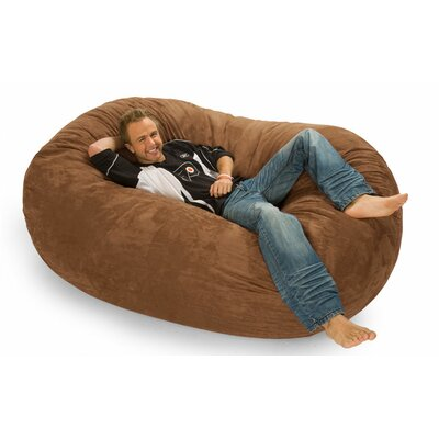 Colossa Bean Bag Sofa Upholstery: Earth Microsuede