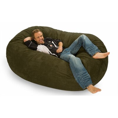 Colossa Bean Bag Sofa Upholstery: Olive Microsuede