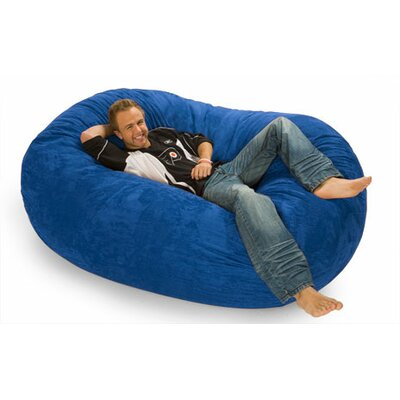 Colossa Bean Bag Sofa Upholstery: Blue Microsuede