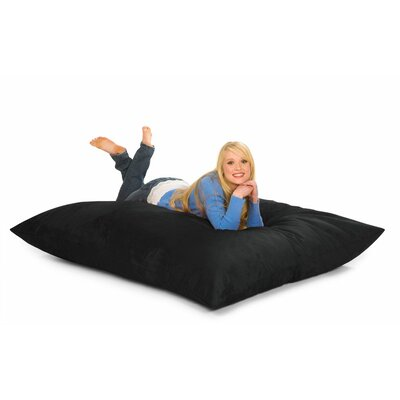 Bean Bag Lounger Upholstery: Black Microsuede