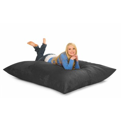 Bean Bag Lounger Upholstery: Charcoal Microsuede