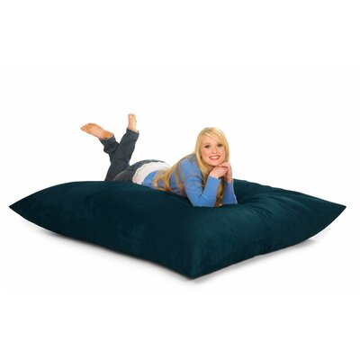 Bean Bag Lounger Upholstery: Navy Microsuede