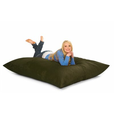Bean Bag Lounger Upholstery: Olive Microsuede