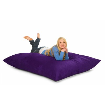 Bean Bag Lounger Upholstery: Purple Microsuede