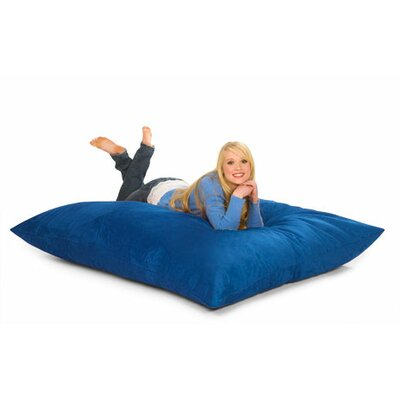 Bean Bag Lounger Upholstery: Blue Microsuede