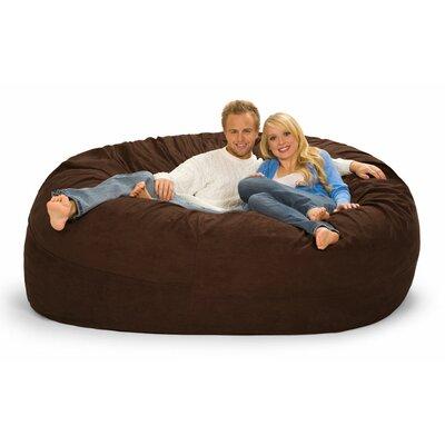 Giganti Bean Bag Sofa Upholstery: Chocolate Microsuede