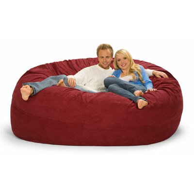 Giganti Bean Bag Sofa Upholstery: Cinnabar Microfiber