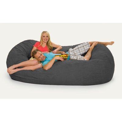 Giganti Bean Bag Sofa Upholstery: Charcoal Microsuede