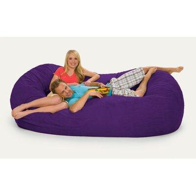 Giganti Bean Bag Sofa Upholstery: Purple Microsuede