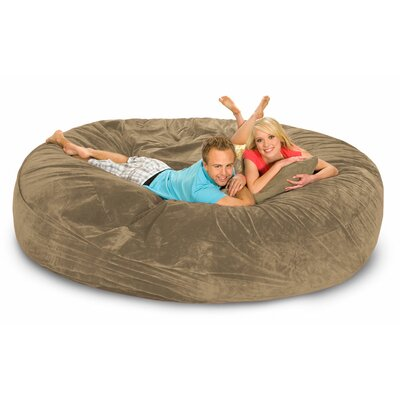Giganti Bean Bag Sofa Upholstery: Camel Microsuede