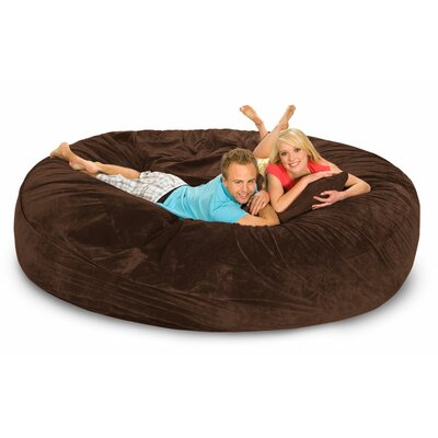 Giganti Bean Bag Sofa Upholstery: Chocolate Microsuede