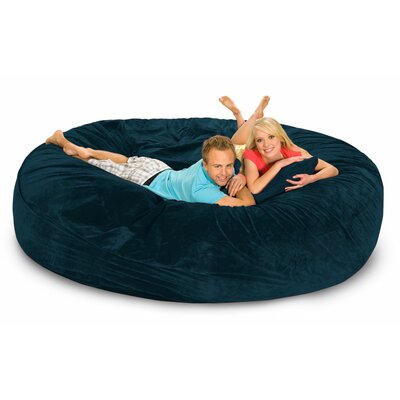 Giganti Bean Bag Sofa Upholstery: Navy Microsuede