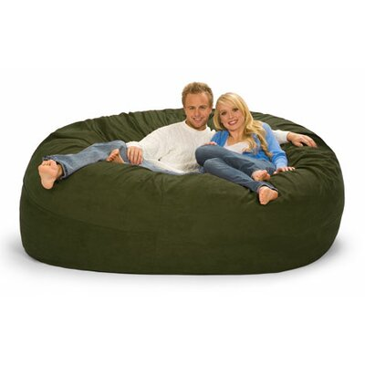 Giganti Bean Bag Sofa Upholstery: Olive Microsuede