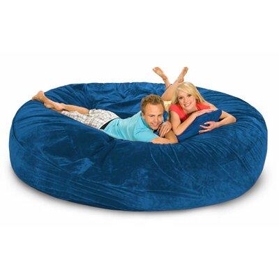 Giganti Bean Bag Sofa Upholstery: Blue Microsuede